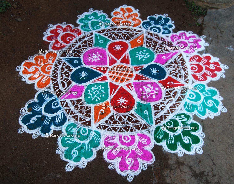 Lotus Freehand Rangoli