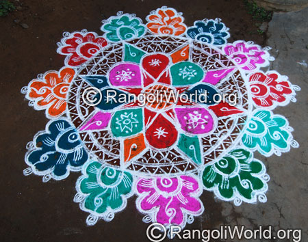 Big freehand rangoli aug2014