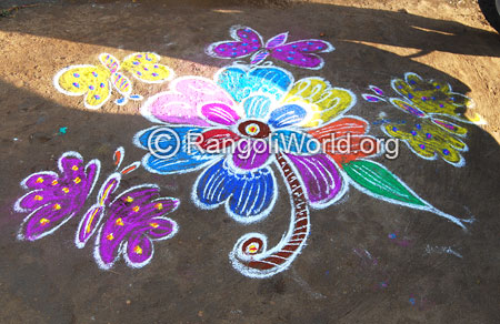 Butterfly rangoli aug2014