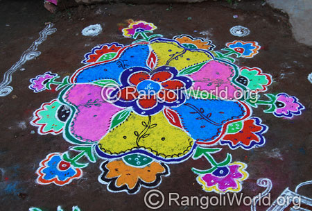 Colorful rangoli aug2014