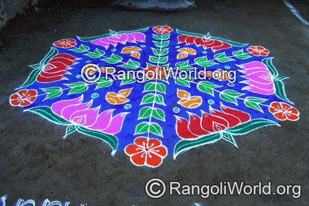 Lotus deepam kolam aug2014