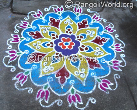 Lotus traditional rangoli aug2014