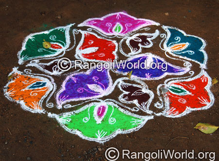 Simple flower kolam aug2014