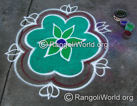Simple freehand rangoli aug2014