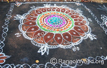 Traditional aadi perukku rangoli aug2014