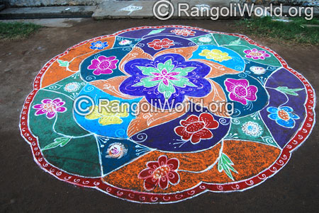 Traditional flower rangoli aug2014