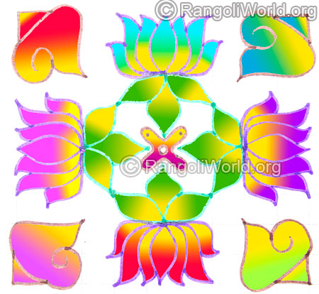 Lotus flower shell sangu kolam may1 2015