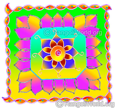 Simple pooja room flowers sikku kolam may1 2015