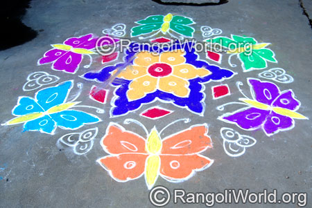Butterfly street kolam april14 2015