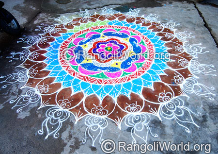 Chithirai thiruvizha rangoli april14 2015