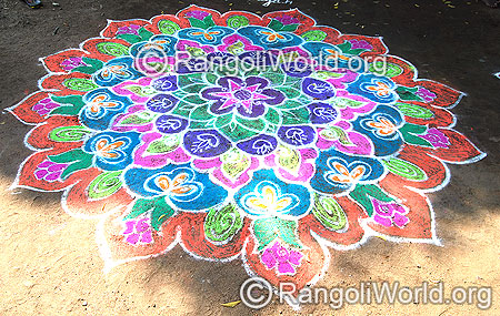 Deepam festival freehand rangoli april14 2015