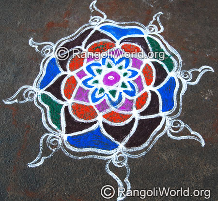 Easy star pooja rangoli april14 2015