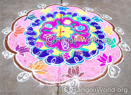 Flowers festival rangoli april14 2015
