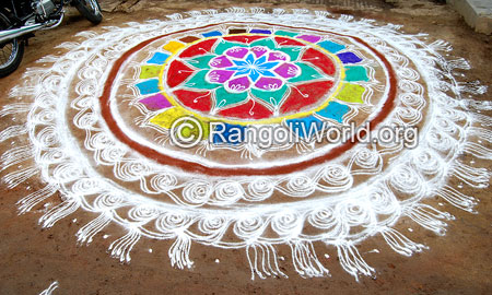 Freehand festival rangoli april15 2015