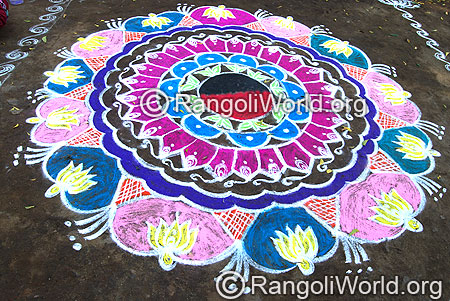 Lotus rangoli april14 2015