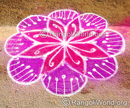 Quick simple freehand rangoli april14 2015
