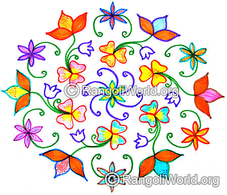 Flowers kolam dec25