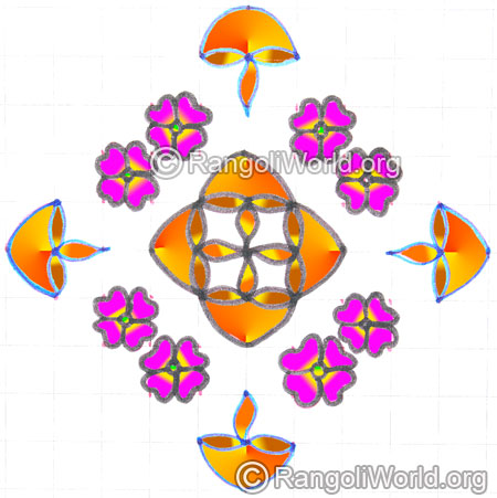 Agal vilakku flower poo kolam may8 2015