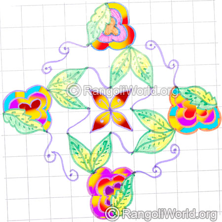 Blooming flowers kolam may8 2015