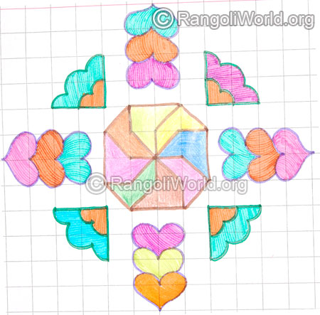 Easy heart shape kolam may8 2015