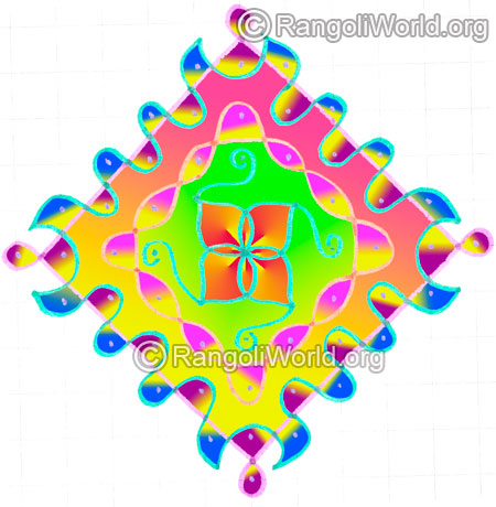 Easy simple sikku kolam may8 2015