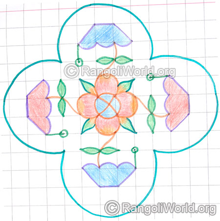 Flower plant kolam may8 2015
