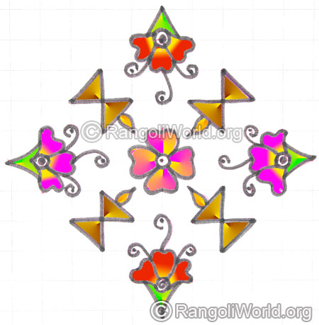 Karthigai deepam flower kolam may8 2015