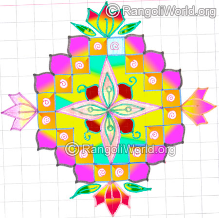 Lotus flower pooja room kolam may8 2015