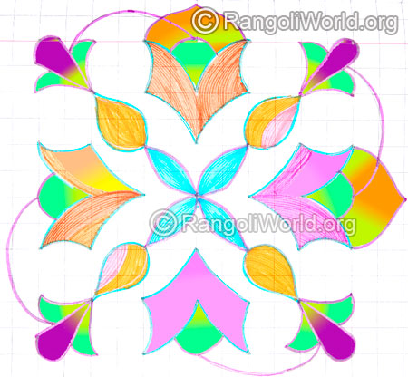Simple flower kolam may8 2015