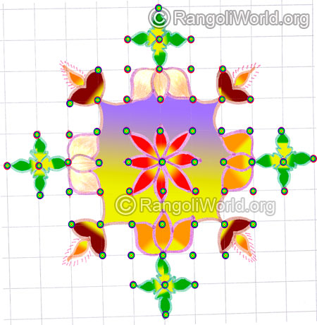 Small lotus lamp kolam may8 2015