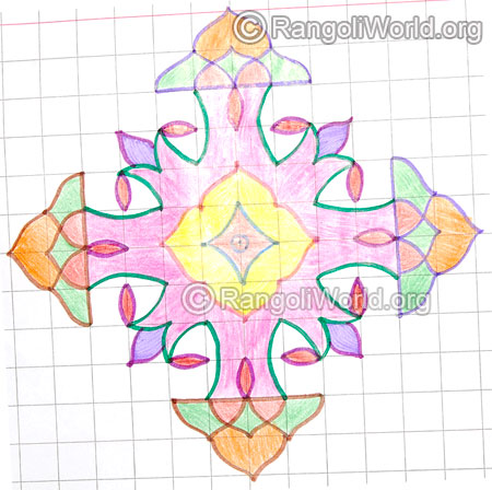 Small pooja kolam may8 2015