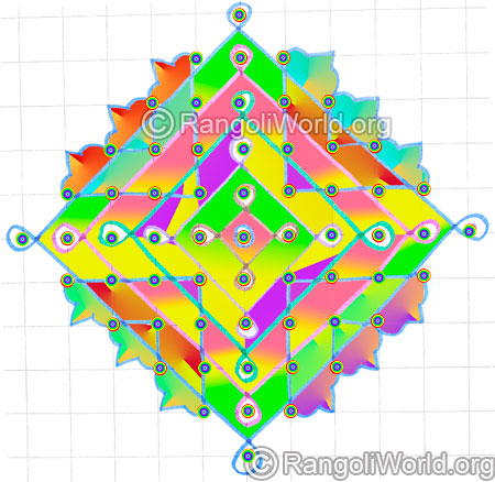 Small pooja room kolam 11 1 parallel dots may8 2015