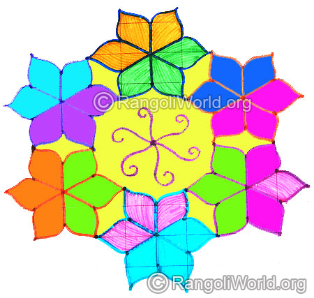 Star flower kolam april24 2015