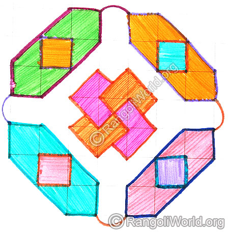 Swastik diamond kolam april24 2015
