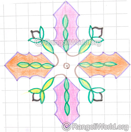 Tiny flower kolam may8 2015