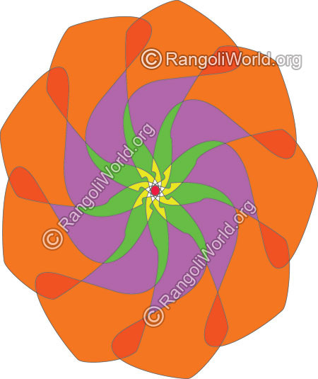 Surya pooja rangoli for everyday