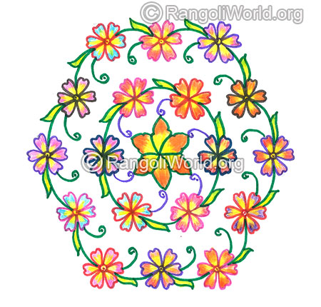 Flower kolam nov 2015