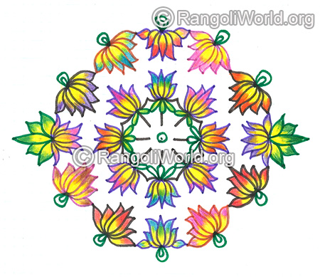 Lotus flower kolam nov 2015