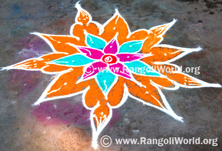 Simple Freehand Rangoli