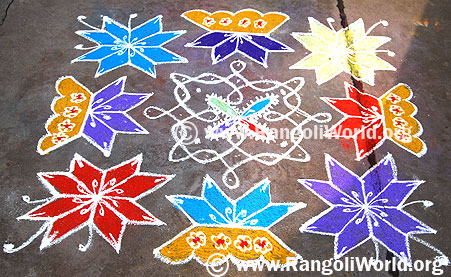 Star Flower Kolam