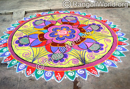 Blooming Flowers Rangoli