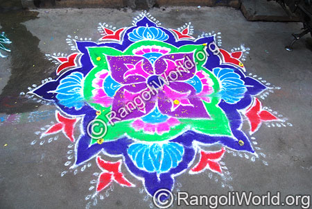 Flower Buds Rangoli