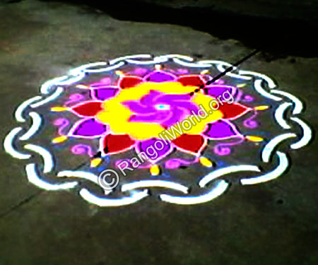 Simple Flowers Rangoli