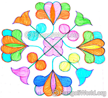 Beautiful blooming flowers kolam aug14 2015