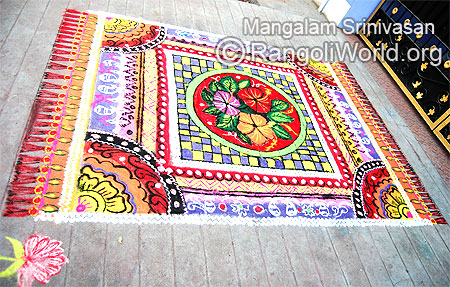 Big carpet rangoli