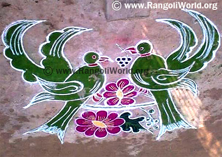 Love Birds Rangoli