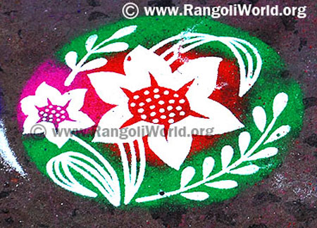 flower rangoli using Instrument