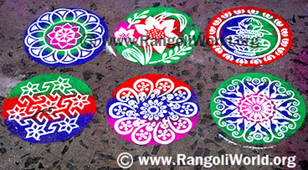 rangoli making using instrument