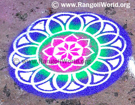 simple freehand rangoli design