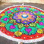 Wedding and Festival rangoli designs collection